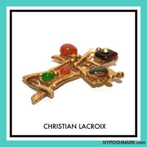 Christian Lacroix Jewelry - Christian Lacroix Fabulous Retro Brooch Pendant